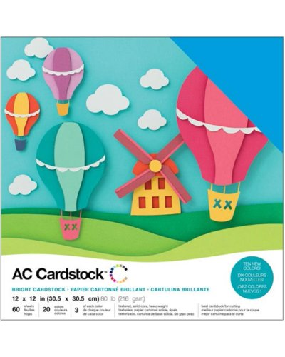 "Cardstock Pack bright 12""X12"""