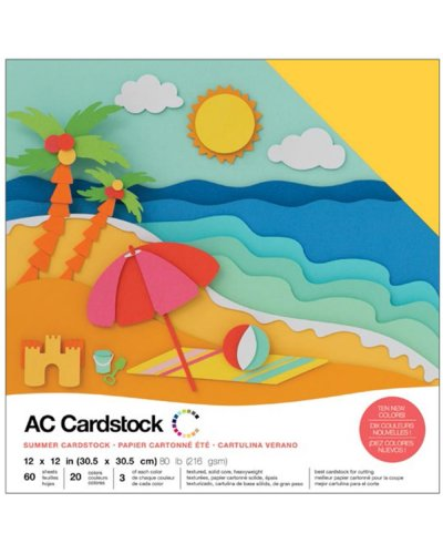 "Cardstock Pack summer 12""X12"""