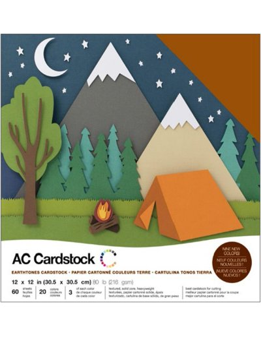 "Cardstock Pack earthtones 12""X12"""