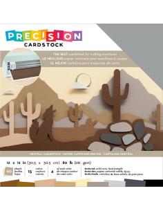 "Cardstock precision nutral 12""X12"""