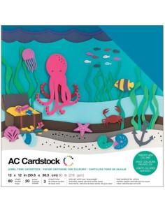 "Cardstock precision jewel tone 12""X12"""