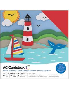 "Cardstock precision primary 12""X12"""