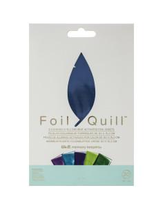 "Hojas de aluminio azul 4""x 6"" de foill quill"