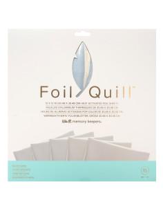 hojas plateadas de 12x12 foil quill de we r