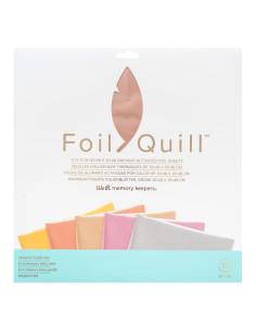 hojas oro rosado de 12x12 foil quill de we r