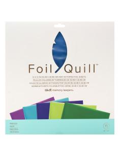 hojas azul de 12x12 foil quill de we r
