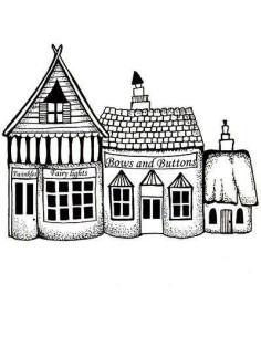 sello Fairy Shops 2 de lavinia stamps