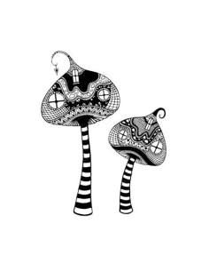 sello Zen Tall Mushrooms de lavinia stamps