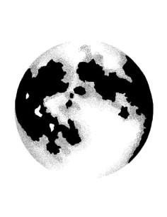 sello Moon de lavinia stamps