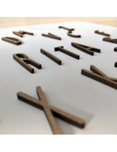 letra de madera u
