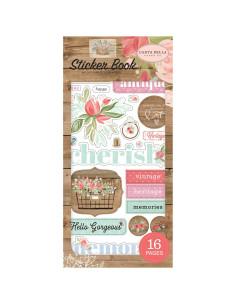 libro de pegatinas farmhouse market carta bella