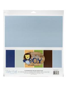 kit papeles sólidos baby boy de echo park