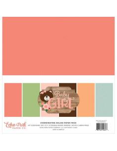 kit papeles sólidos baby girl de echo park