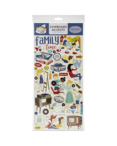 chipboard family night de carta bella