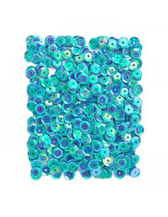 Lentejuelas azul brillante