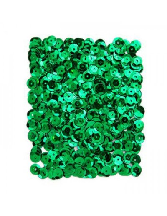 Lentejuelas verde oscuro