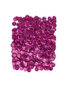 Lentejuelas rosa oscuro