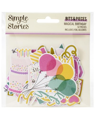 troquelados magical birthday de simple stories