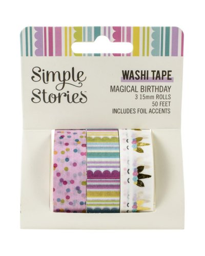 Washi Tape de magical birthday de simple stories