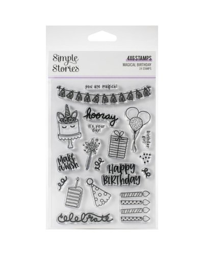 sello magical birthday de simple stories