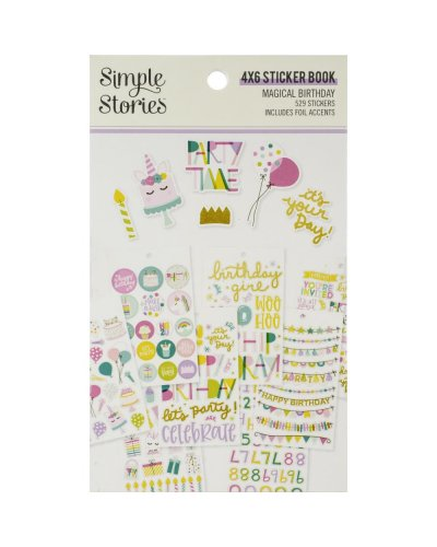 block de pegatinas magical birthday de simple stories
