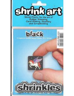 6 láminas de plástico Black Shrinkles