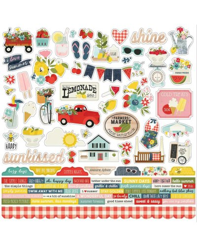 pegatinas 30x30cm summer farmhouse de simple stories