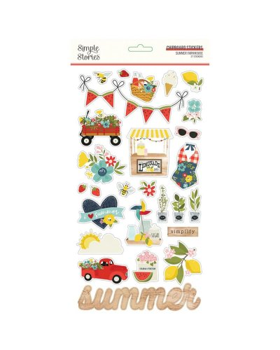 chipboard summer farmhouse de simple stories