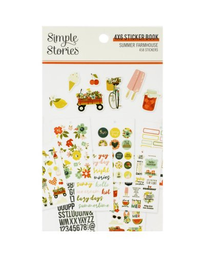libro de pegatinas summer farmhouse