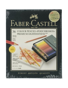 Caja de regalo de lápiz de color Polychromos 36pc de faber castell