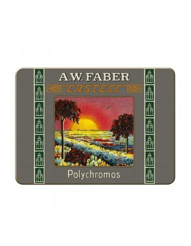 Estuche de Metal con 24 Polychromos Edición 111 Aniversario Faber-Castell Multicolor