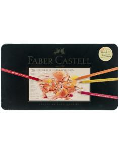 Juego de lápices de colores Polychromos en lata de metal 120pc de faber castell