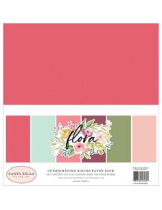 papeles sólidos flora de carta bella