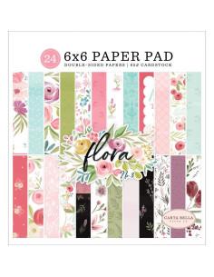 bloc 6x6 flora de carta bella