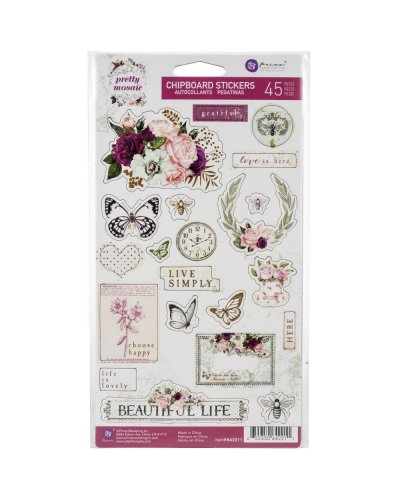 chipboard pretty mosaic de prima