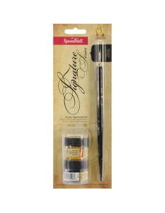 Juego de caligrafía signature series