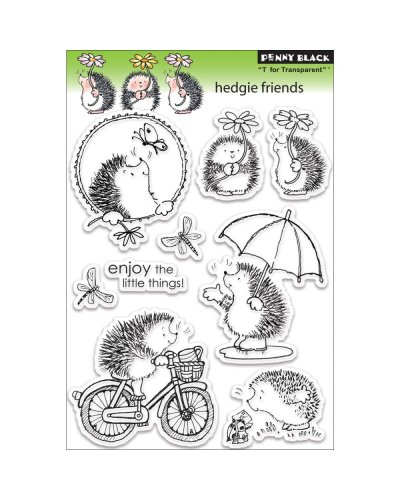 Sello hedgie friends de Penny Black