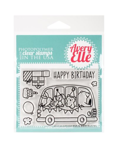 Sello birthday bus de Avery Elle