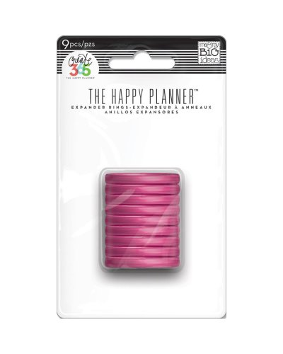 Anillas rosa de happy planner