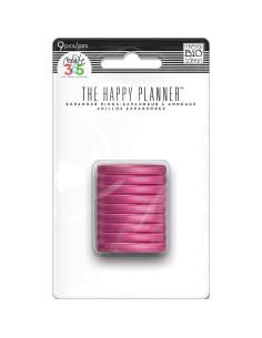 Anillas rosa claro de happy planner