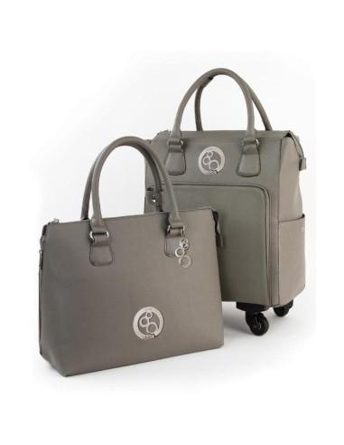 conjunto maleta y bolso de equipaje Windsor Grey