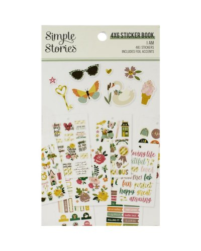 libro de pegatinas going i am simple stories