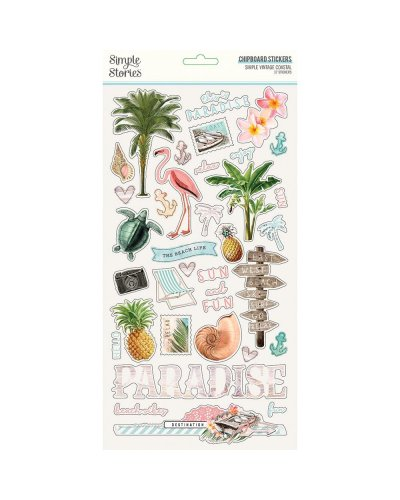chipboard simple vintage coastal simple stories