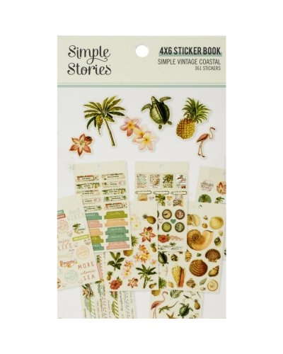 libro de pegatinas simple vintage coastal simple stories
