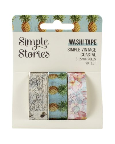 washi tape simple vintage coastal simple stories