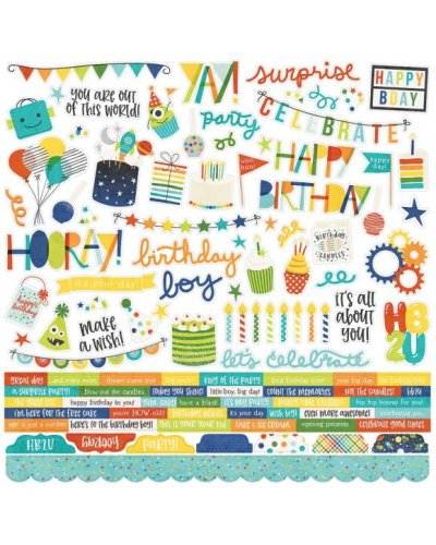 hoja de pegatinas Birthday Blast simple stories
