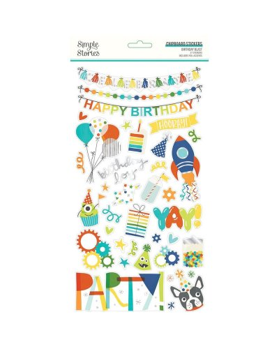 chipboard Birthday Blast simple stories