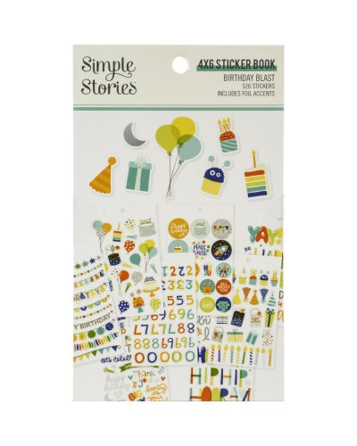 libro de pegatinas Birthday Blast simple stories