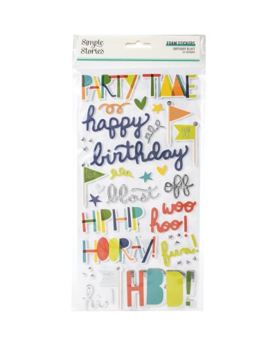 pegatinas foam Birthday Blast simple stories
