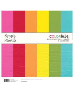 Kit de cartulina con textura Color Vibe - brights